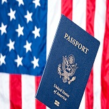 American flag and passport